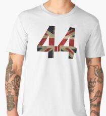 Lewis Hamilton 44 with worn looking Union Jack Men's Premium T-Shirt