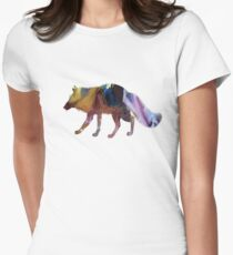 Fox art Womens Fitted T-Shirt
