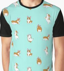 Frolicking Corgis Graphic T-Shirt