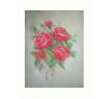 Red Morning Roses Art Print