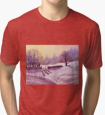 Sheep and Snow Tri-blend T-Shirt