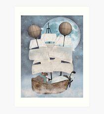 ein arktisches Abenteuer Kunstdruck