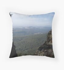 view from Mt Gnomon looking way back towards Mt Roland, Tasmania Throw Pillow