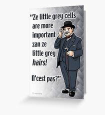 Little Grey Cells Greeting Card