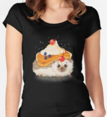 Hedgehog and Pancakes Women's Fitted Scoop T-Shirt