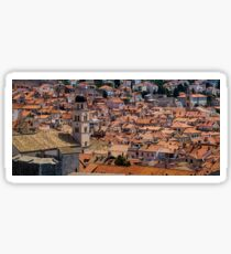 Dubrovnik roof top view Sticker