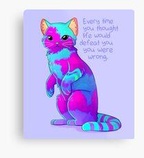 """Lienzo metálico """"Cada vez que pensaste que la vida te derrotaría"""" Rainbow Sky Sand Cat"""
