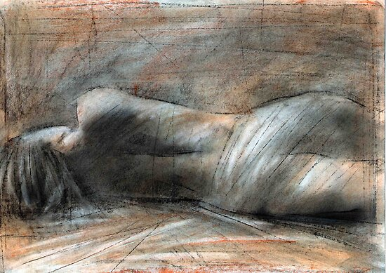lying figure study 14 by cliffwarner