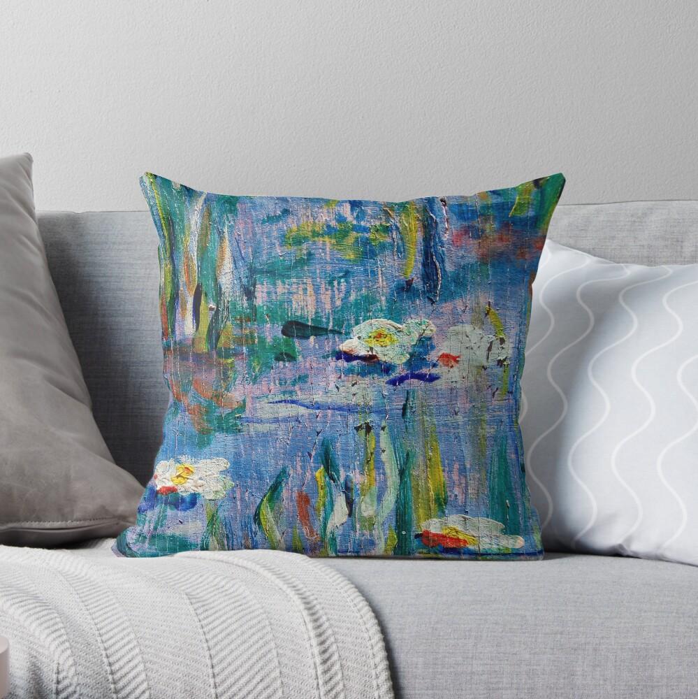 Monet Alley Throw Pillow