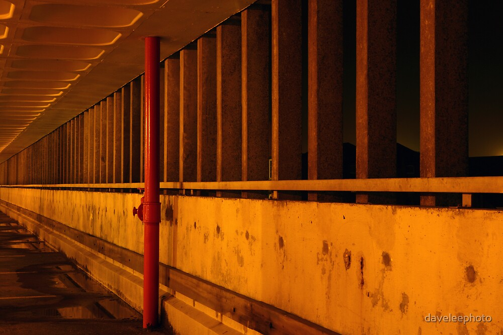Car Park Wall by daveleephoto