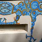 Graffiti Gecko by Louise Green
