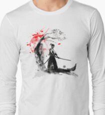 Japanische Samurai Langarmshirt