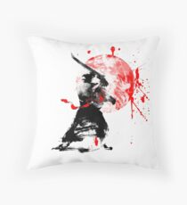 Japanese Samurai Throw Pillow