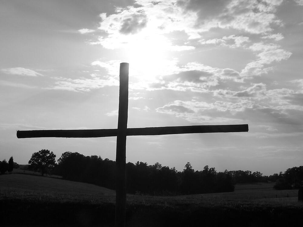 Cross in Sunset by Kristie King