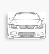 simple m3 - gray Canvas Print