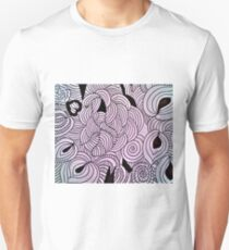 Ether Formation Black and White Unisex T-Shirt