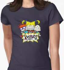 The Rugrats, Tommy, Chuckie and Angelica Women's Fitted T-Shirt