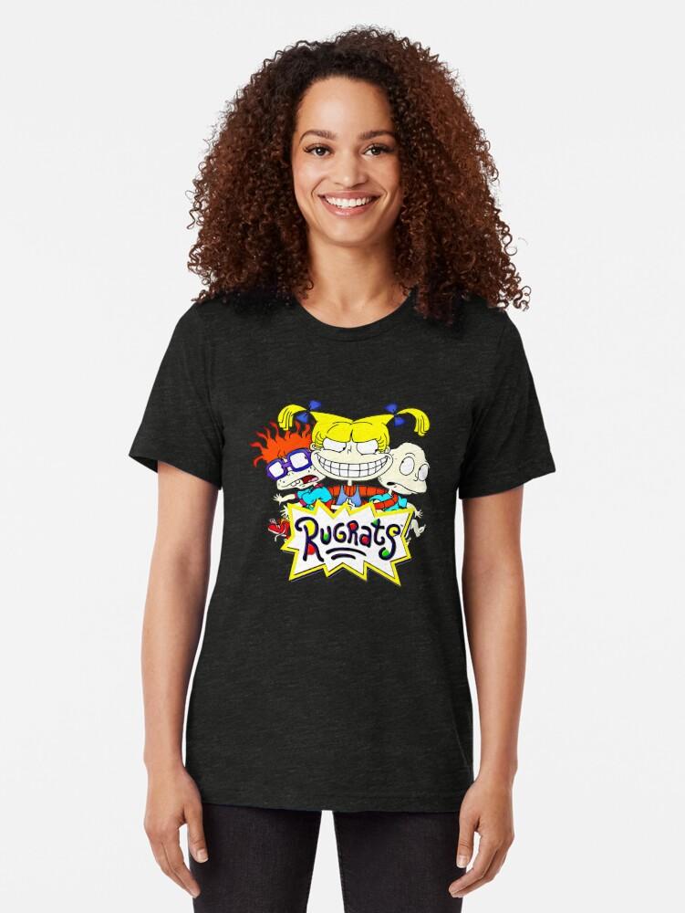 Alternative Ansicht von Die Rugrats, Tommy, Chuckie und Angelica Vintage T-Shirt