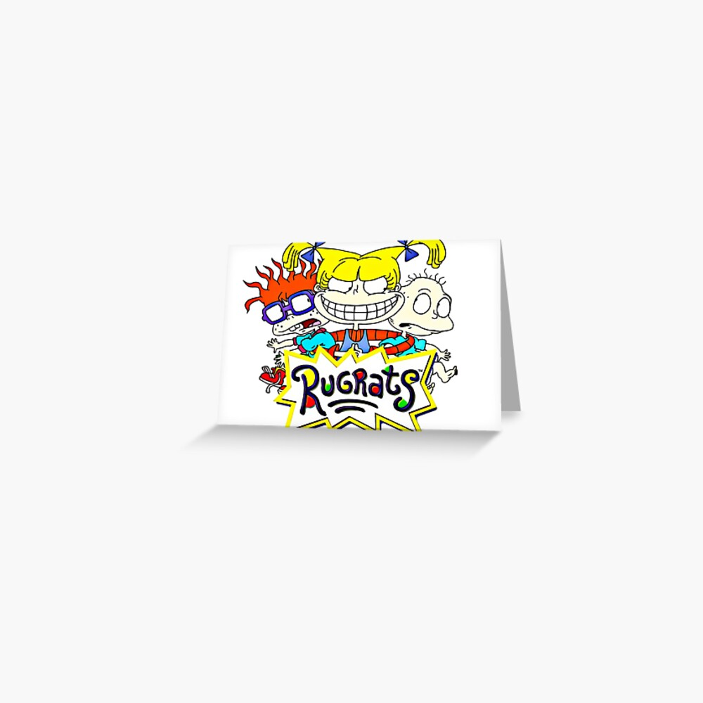 Die Rugrats, Tommy, Chuckie und Angelica Grußkarte
