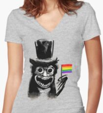 Babadook Women's Fitted V-Neck T-Shirt