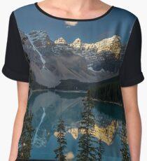 Majestic Moraine Lake sunrise Women's Chiffon Top