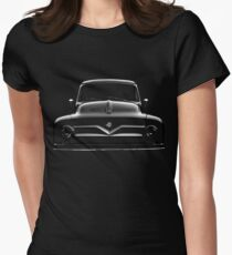ford f100, black shirt Womens Fitted T-Shirt