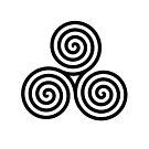 celtic triple spiral  by Boxzero