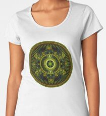 Metatron's Magick Wheel ~ Sacred Geometry Women's Premium T-Shirt