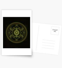 Metatron's Magick Wheel ~ Sacred Geometry Postcards