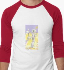 Lonely Space Man on Mars Men's Baseball ¾ T-Shirt