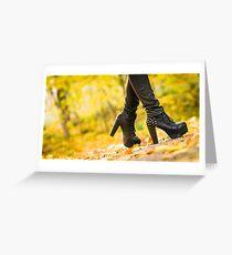 High heels Greeting Card