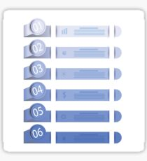 business template with six options Sticker
