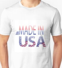 made in USA text Unisex T-Shirt
