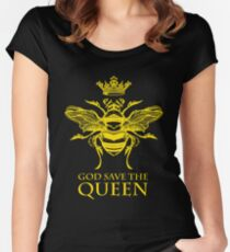 God Save the Queen 'Bee' Women's Fitted Scoop T-Shirt