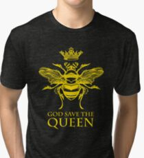 God Save the Queen 'Bee' Tri-blend T-Shirt