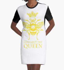 Gott schütze die Königin 'Biene' T-Shirt Kleid