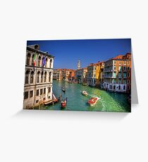 Light Traffic on the Grand Canal Greeting Card