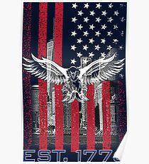 American Flag T Shirt Poster