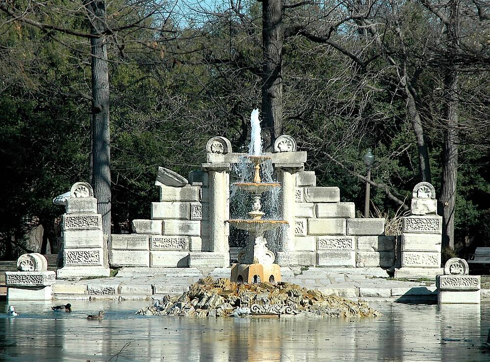 Park fountain by Jim Caldwell