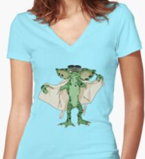 Gremlin Flasher Women's Fitted V-Neck T-Shirt