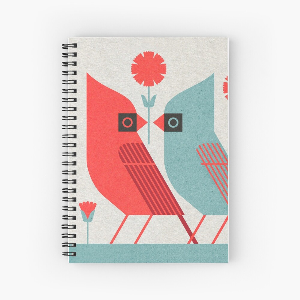 Cardinals and Carnations  Spiral Notebook