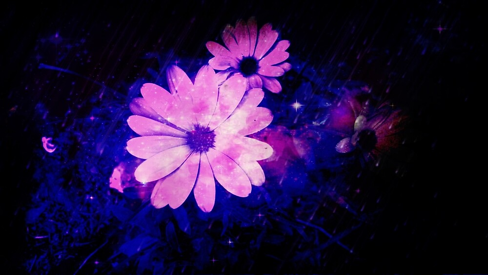 Pink Flowers by Linda Ursin