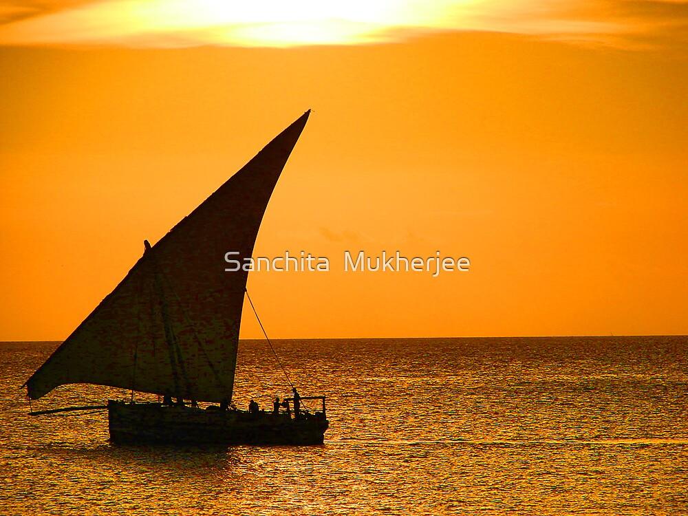 A dhow from Zanzibar  by Sanchita  Mukherjee