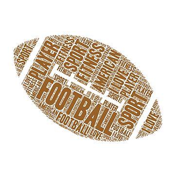 Football Ball  ,American sports by zaysa