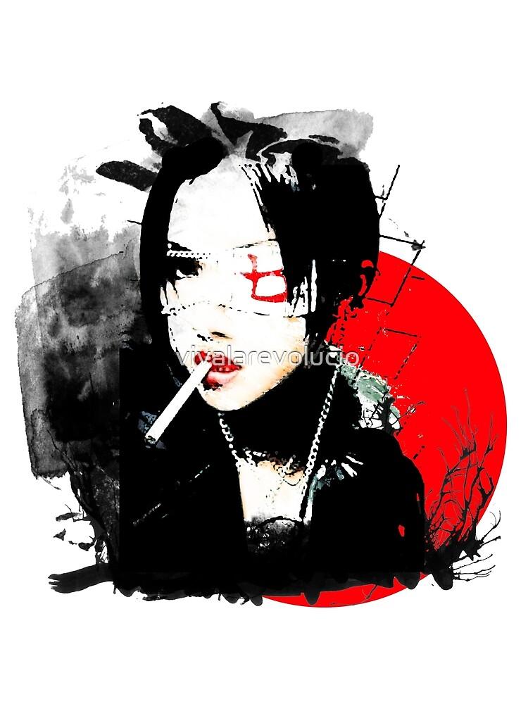 Japanisches Punkmädchen von vivalarevolucio