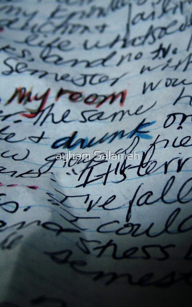 WORDS IV by ayham Salameh