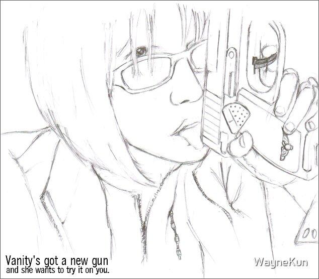 Vanity's  Gun by WayneKun