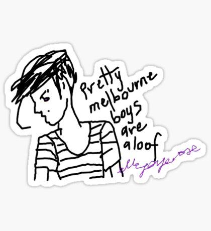 'Pretty Melbourne Boys are Aloof' Sticker