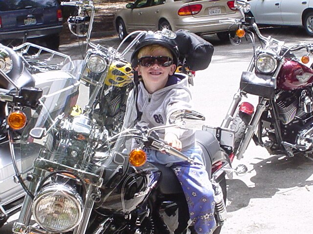 Boy on a Harley by andreatreitman