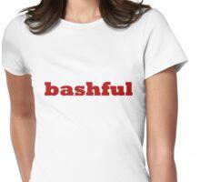 bashful Womens Fitted T-Shirt